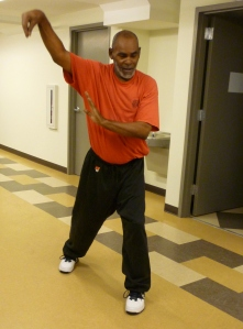 Milton, a Tai Chi LEAP instructor, gets into the flow.