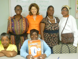 Women learn about health, wellness, food, and finances as part of Calvary's Nutrition Education program.